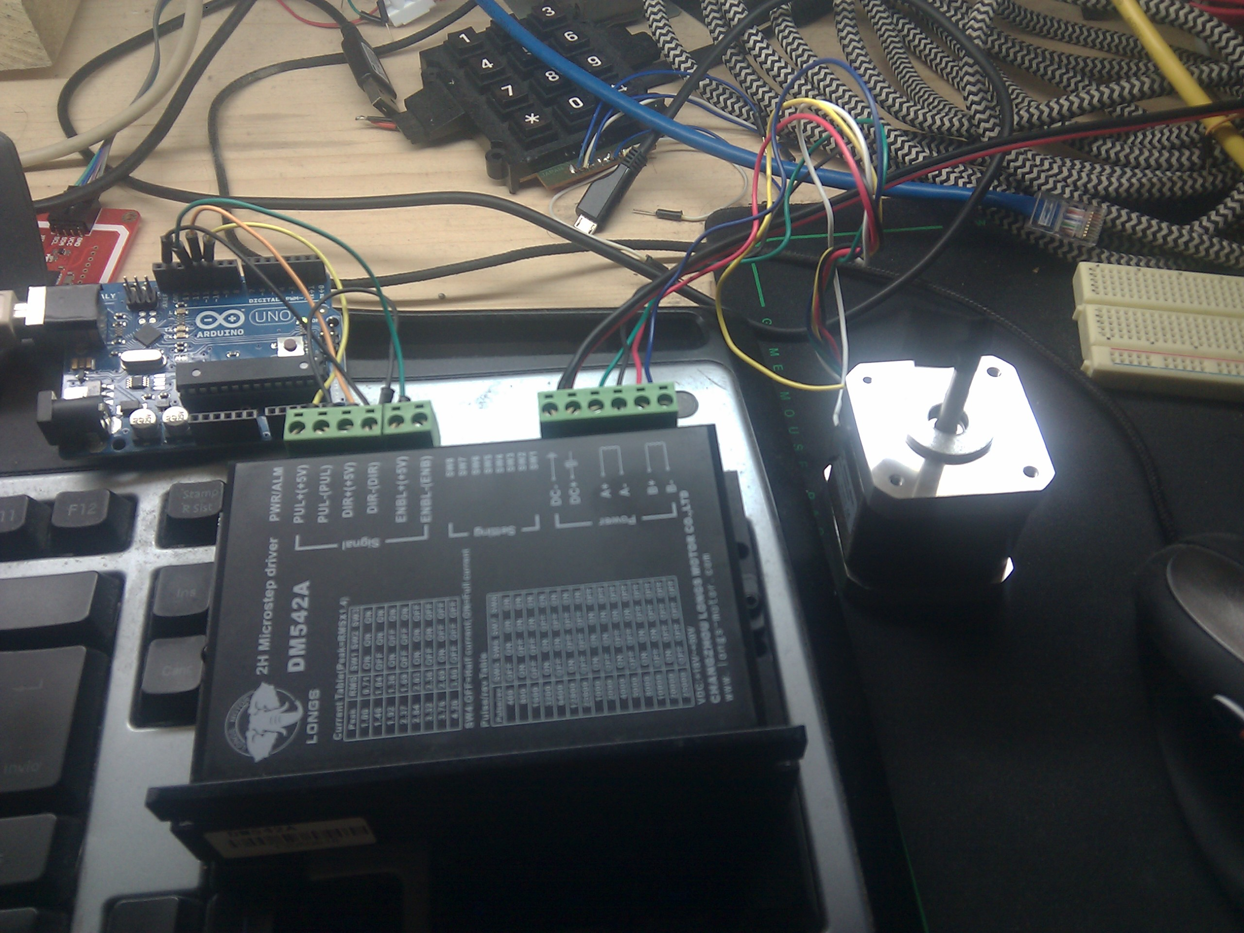 Arduino And Stepper Motor With Puldir Driver Dm542a Emanuele Tessore Wiring Uno